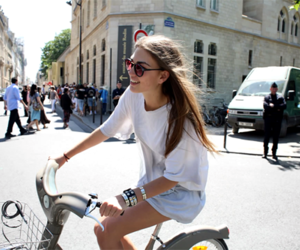girl, bike, and summer image