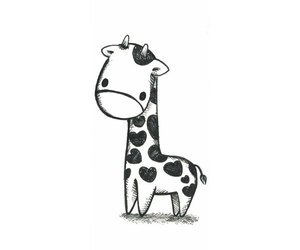 giraffe, cute, and drawing image