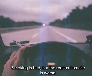 bad, cigarette, and cigarettes image
