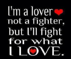i love, not a fighter, and i'm a lover image