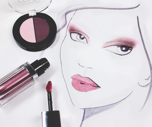 beauty, pink makeup, and cosmetics image