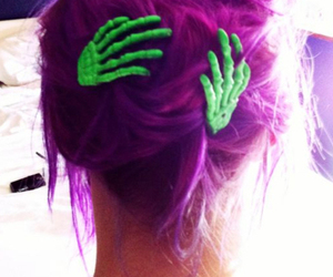 purple, hair, and cool image