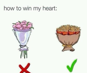 flowers, funny, and heart image