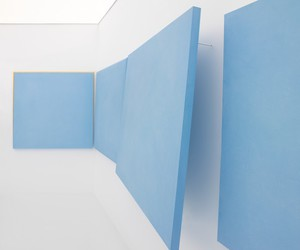 blue, white, and art image