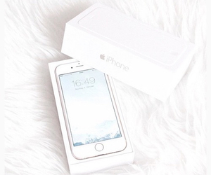 white, iphone, and apple image