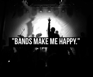 band, black and white, and cool kids image