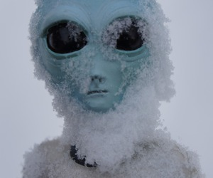 alien, grunge, and snow image