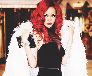 rihanna and red image