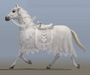 alice in wonderland, horse, and white queen image