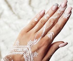 nails, henna, and white image