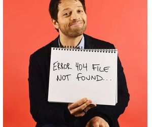 misha collins, reaction, and spn image