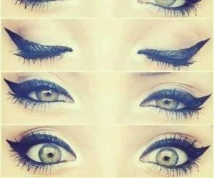 eyes, makeup, and eyeliner image
