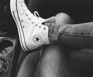 classy, converse, and ripped jeans image