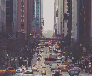 city, car, and new york image