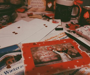cards, friends, and christmas image
