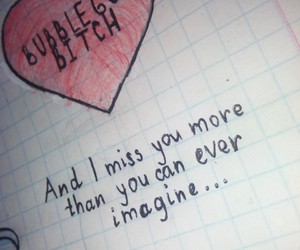 i miss you, you, and imagine image