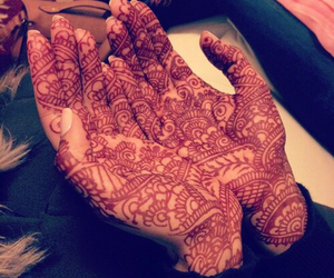 henna, girl, and hands image