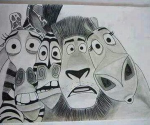 draw and madagascar image