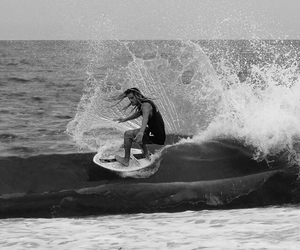 awesome, skimboard, and waves image