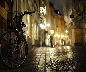 bike, light, and street image