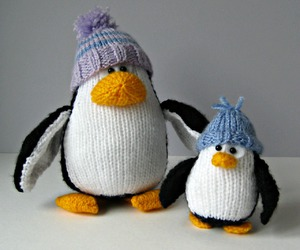 knitted, knitting, and penguins image
