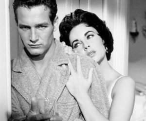 Elizabeth Taylor, paul newman, and Cat on a Hot Tin Roof image