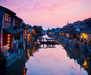 china, river, and water image