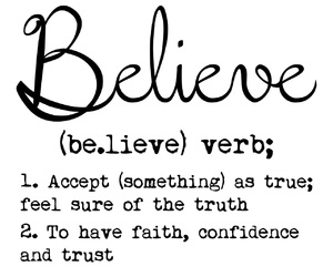 believe, confidence, and definition image