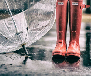 autumn, red boots, and fall image