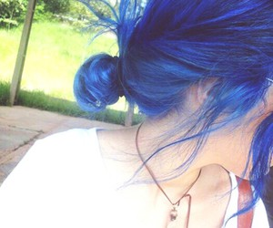 blue hair, grunge, and instagram image