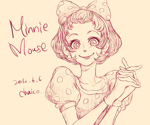 disney, minnie mouse, and art image