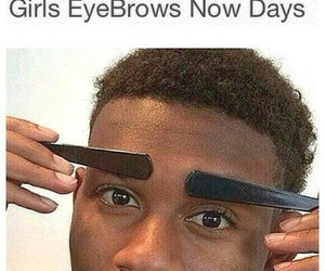 funny, girl, and eyebrows image