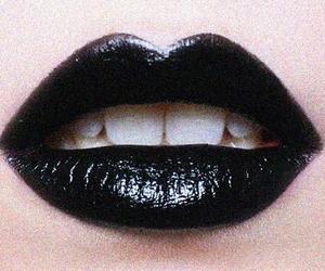lips, black, and lipstick image