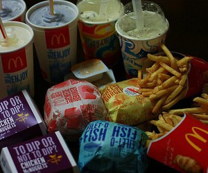 food, fries, and mc donald image