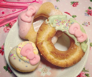 donuts and hello kitty image