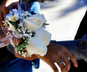 corsage, flower, and flowers image