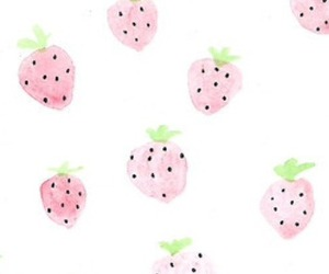 strawberries, pink, and wallpaper image