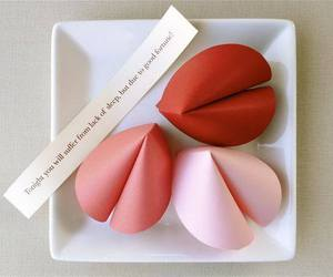 pink, red, and fortune cookie image