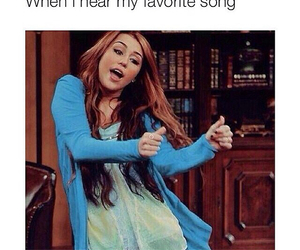 funny, miley, and song image