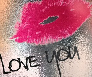 kiss, love, and lipstick image