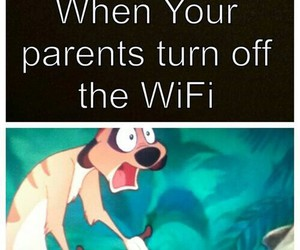 wifi, funny, and parents image
