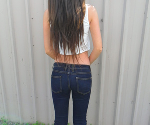 ass, body, and long hair image