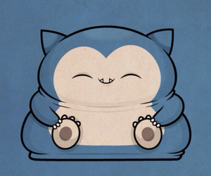 blue, kawaii, and snorlax image