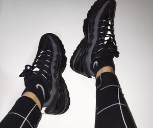 nike, black, and sneakers image