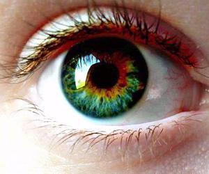 colours, eye, and eyelash image