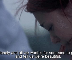 skins, quote, and lonely image