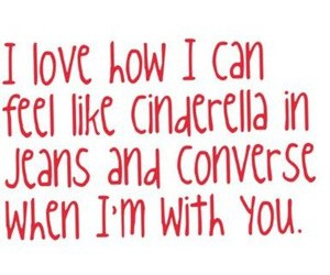 cinderella, love, and jeans image