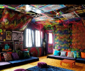 room, hippie, and peace image