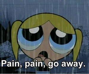 pain, sad, and rain image