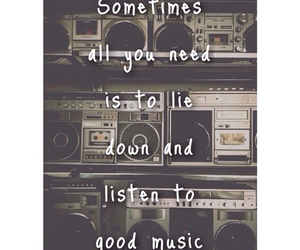 quote, headphones, and music image